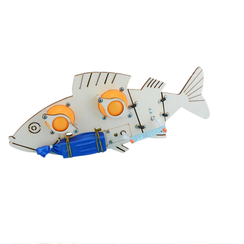 Electric Bionic Toys DIY Electric Mechanical Fish School Science Experiment Projects For Kids Educational Kit