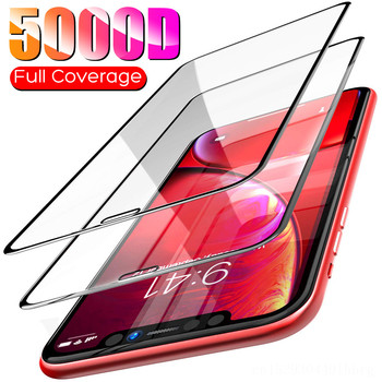 5000D Full Cover Screen Protector Glass For iPhone 11 Pro X XS Max XR SE 2020 Tempered Glass For iPhone 10 8 7 6 6s Plus Glass 1