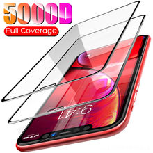 5000D Volledige Cover Screen Protector Glas Voor Iphone 11 Pro X Xs Max Xr Se 2020 Gehard Glas Voor Iphone 10 8 7 6 6S Plus Glas(China)