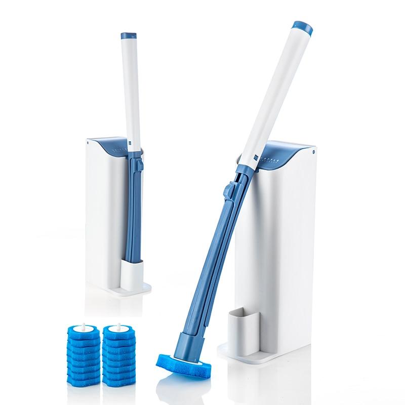 Disposable toilet brush set without dead corner toilet brush cleaning brush without punching wall-mounted toilet toilet brush