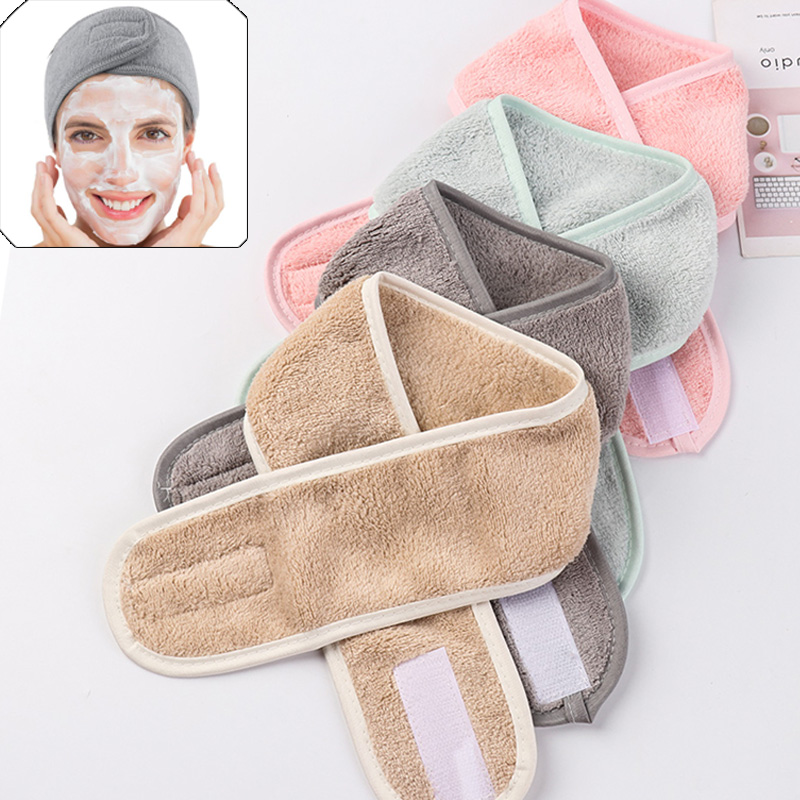 2020 Makeup Hairband Soft Women Facial Hairband Make Up Wrap Head Cleaning Cloth Headband Adjustable Stretch Towel Shower Caps