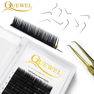Image 3 - Eyelashes Extension Individual Natural Soft Lash L/L+/LC/LD/DD For Professionals Quewel Eye Lashes Russia volume Silk EyeLash
