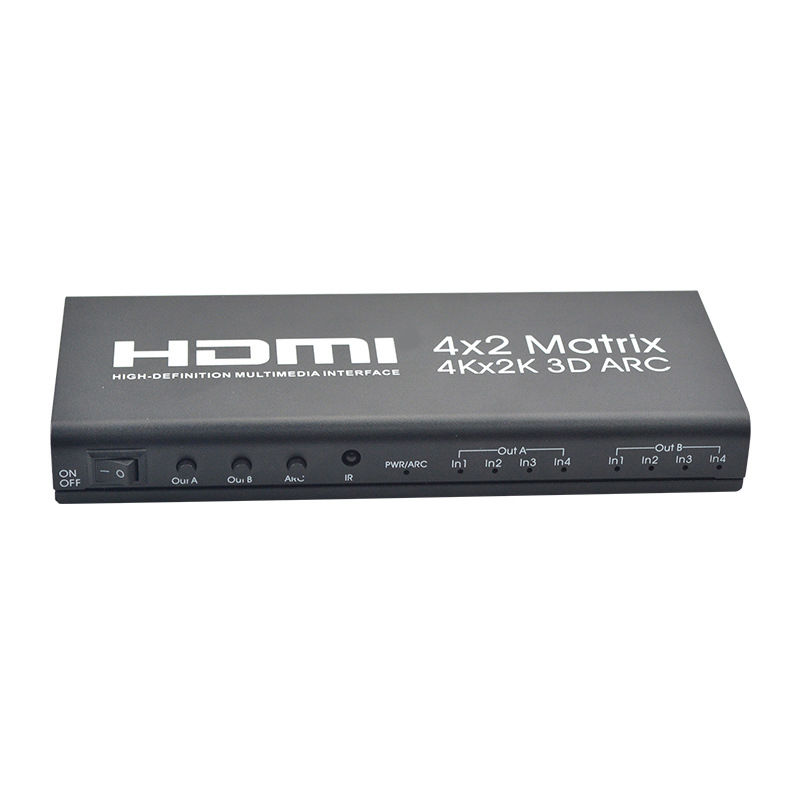 HDMI Matrix 4X2 HDMI 4 In 2 Out 4K 2K HDMI 4 X 2 Switcher HDMI 1.4B EU Plug