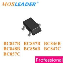 Mosleader SOT23 3000 قطعة BC847B 1F BC848B 1K BC857B 3F BC846B 1B BC856B 3B BC847C 1G BC857C 3G BC847 BC857 BC846 BC856 الصينية