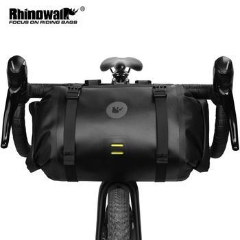 Rhinowalk 2021 torba na kierownicę torba na rower wodoodporny duża pojemność 2-sztuka przednia rurka torba rowerowa rama MTB bagażnik rowerowy akcesoria tanie i dobre opinie CN (pochodzenie) Z poliestru odporne na deszcz X21998B handbar bag hangbag shoulder bag