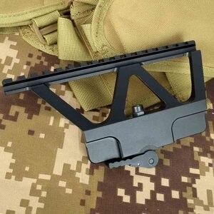 Detalles rápidos AK Gun soporte sobre riel para Mira Weaver Picatinny, montaje de Riel lateral para AK47 AK74, accesorios para Rifle de caza