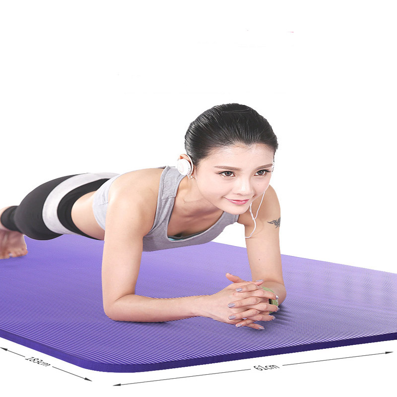 NBR Yoga Mat Safety Non-slip Tear Resistant Women Fitness Exercise Beginner Acupressure Mat Sport Gymnastic Household Dance Pads