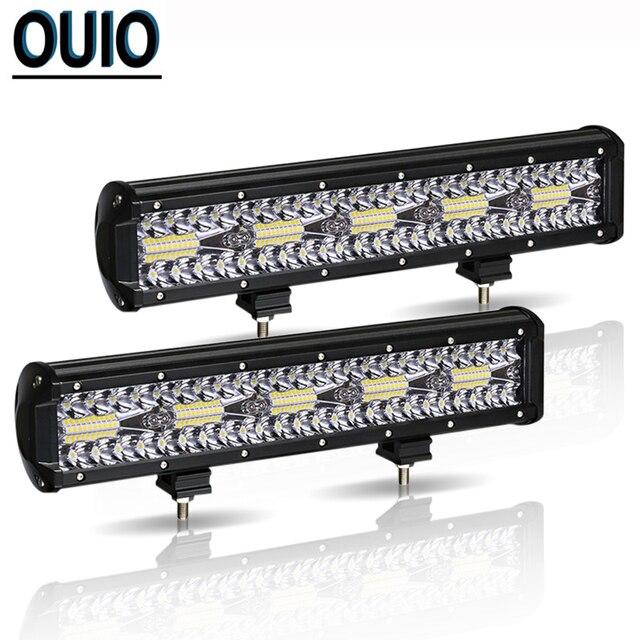 300W 12 Inch LED Bar Ô Tô Offroad Xe Đèn Sương Mù Đèn 12V Combo Xà Đơn Đèn Pha Làm Việc cho Ánh Sáng SUV ATV Xe Kéo Xe Tải Đầu Kéo