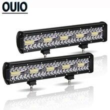 300W 12 Inch LED Light Bar Automobile Offroad Car Fog Lamp 12V Combo Beam Headlight Work Light for SUV ATV Trailer Truck Tractor