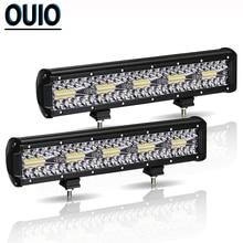 300W 12 inç LED ışık çubuğu otomobil Offroad araba sis lambası 12V Combo huzmeli far çalışma ışığı SUV ATV römork kamyon traktör