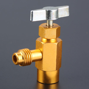 Image 4 - R 134A AC קירור יכול פותחן מחלק ברז שסתום 1/2 פסגת חוט פליז