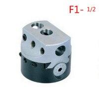 Frete grátis precisão 0.01mm fresadora mt2 F1-1/2 mt3 F1-1/2 cabeça chata 2 polegada torno chato cabeça
