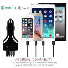 4Port USB Car Charger 3.5A Fast Car Charging DC Universal Auto Charger Adapter 35W for iPhone x Samsung Xiaomi iPad(China)