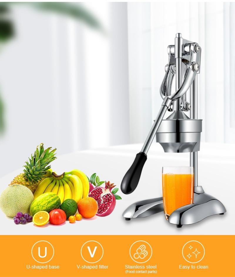 Stainless Steel Citrus Fruits Squeezer Orange Lemon Juicer Lemon Fruit Pressing Machine Press Juicer Home commercial