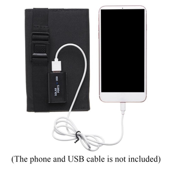 15W 5V 2A Sun Power Usb Foldable Solar Panel Camping Hiking Phone Charger-Black 6