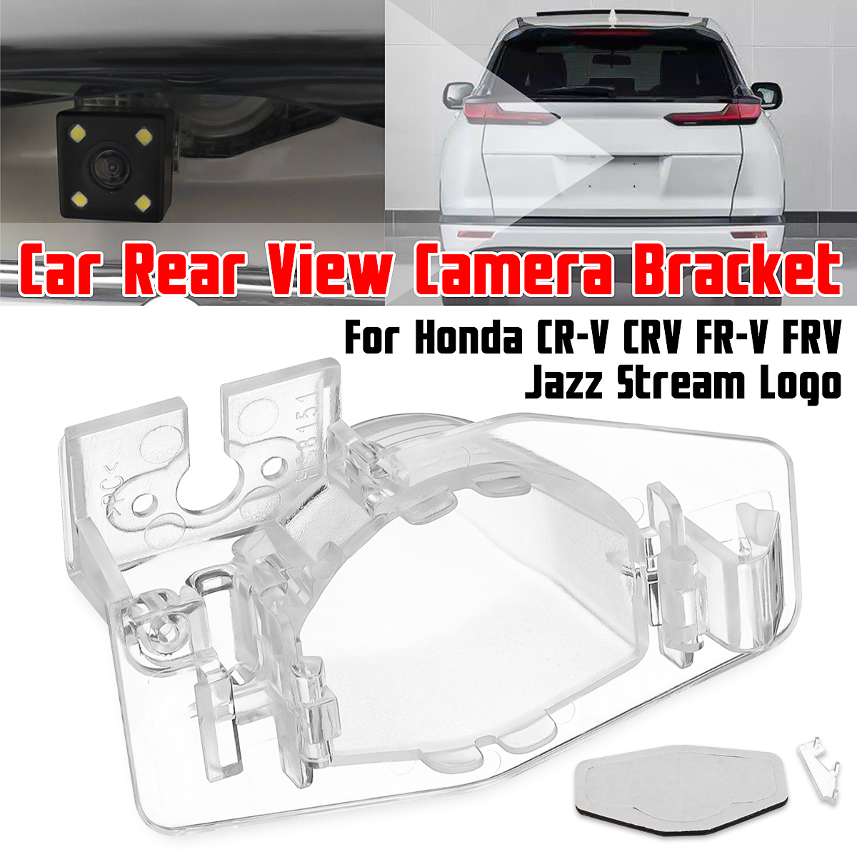 Car Parking Rear View Camera Bracket License Plate Cover Case Housing Mount For Honda For CR-V CRV FR-V FRV Jazz Stream Logo