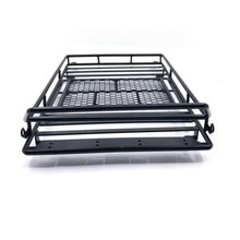 2019 Metal Roof Rack Luggage Carrier with 36 LED Spotlight bar For 1/10 RC Crawler Traxxas Trx4 RC4WD Wrangler Axial Scx10