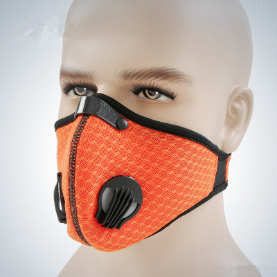 Outdoor Anti-dust Half Face Mask Mouth-muffle Windproof Breathing Valve Blue Protective Masks Cycling Face Mask