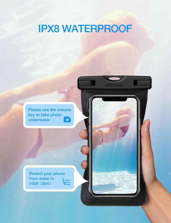 3 teile/los Mpow 6,5 zoll IPX8 Wasserdichte Tasche Fall Universal Telefon Pouch Schwimmen Nehmen Foto Unterwasser Für Xiaomi 8 iPhone X Xs Max