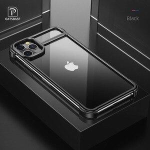 Image 1 - Funda de teléfono con marco de Metal para iPhone 11 11 pro, carcasa magnética para teléfono iPhone 11 pro max
