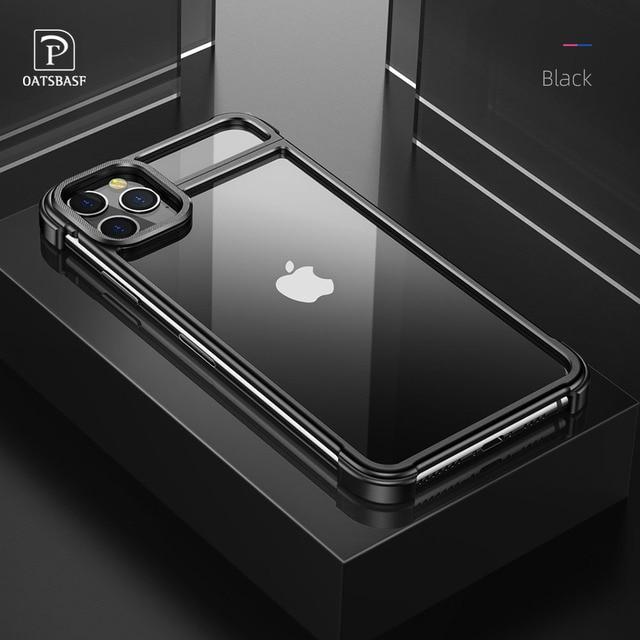 Funda de teléfono con marco de Metal para iPhone 11 11 pro, carcasa magnética para teléfono iPhone 11 pro max
