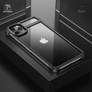Image 1 - New Metal Frame Phone Case For Iphone11 11pro Magnetic Attraction Bare Machine Feel Drop proof Phone Cover For Iphone11 pro max