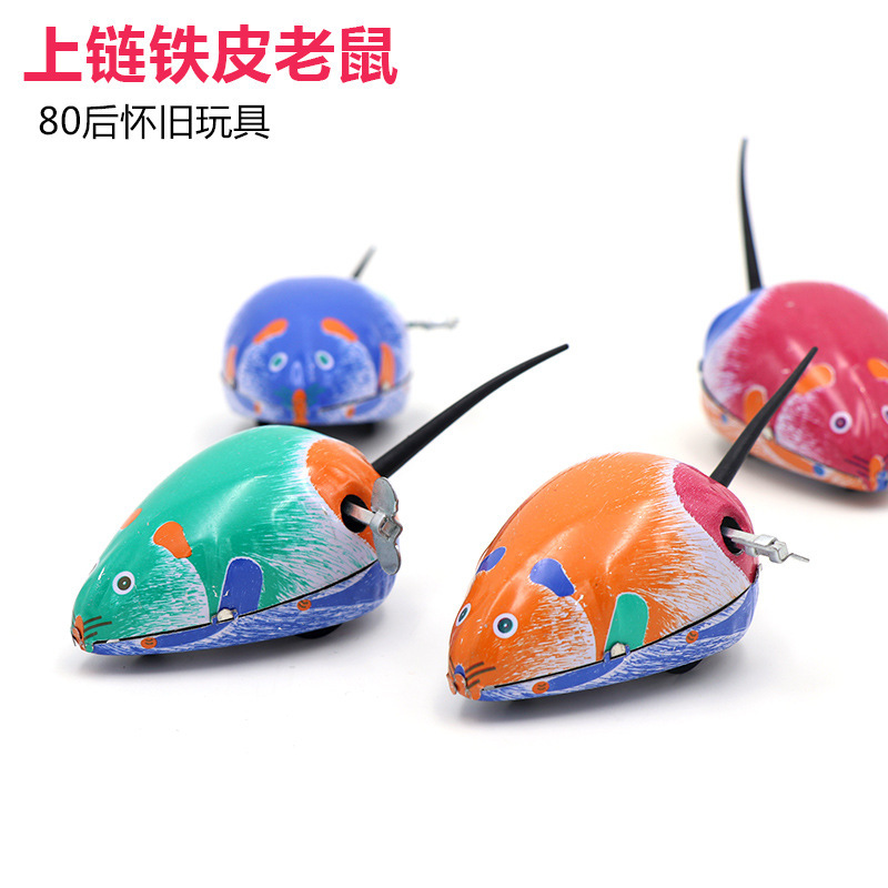 Hot Sales 80 Nostalgic Classic Algam Mouse On Spring Small Mouse Toy Children Gift Ground Promotion Wechat Business