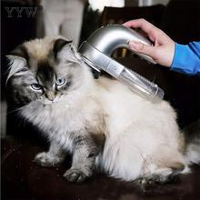 ABS Electric Pet Suction Device Portable Cat Dog Massage Cleaning Vacuum Cleaner Pet Hair Brush To Brush Abs Pet Hair Cleaner