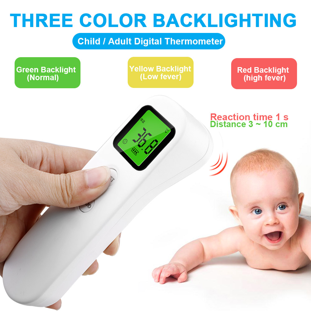 Digital LCD Backlight Non-contact IR Infrared Thermometer Body Forehead Temperature Meter with Automatic Shutdown Function