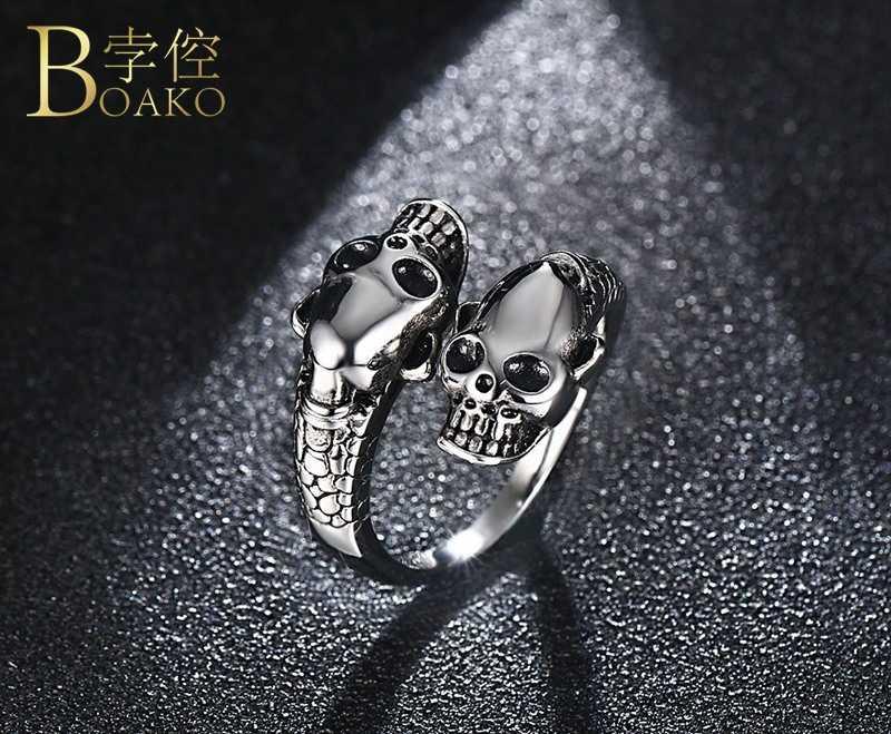 Punk Stainless Steel Skeleton Necklace Men Vintage Skull Pendant Necklace Women Hip Hop Girl Anniversary Halloween Collar Z5