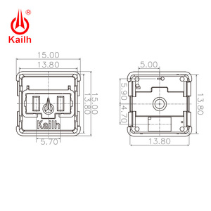 Image 4 - Kailh Choc Red Crystal Switch low profile Switch Chocolate Mechanical Keyboard Switch RGB SMD white stem linear hand feeling