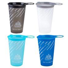 AONIJIE 200 мл Складная ТПУ водная напольная чашка марафон бегущая бутылка для воды