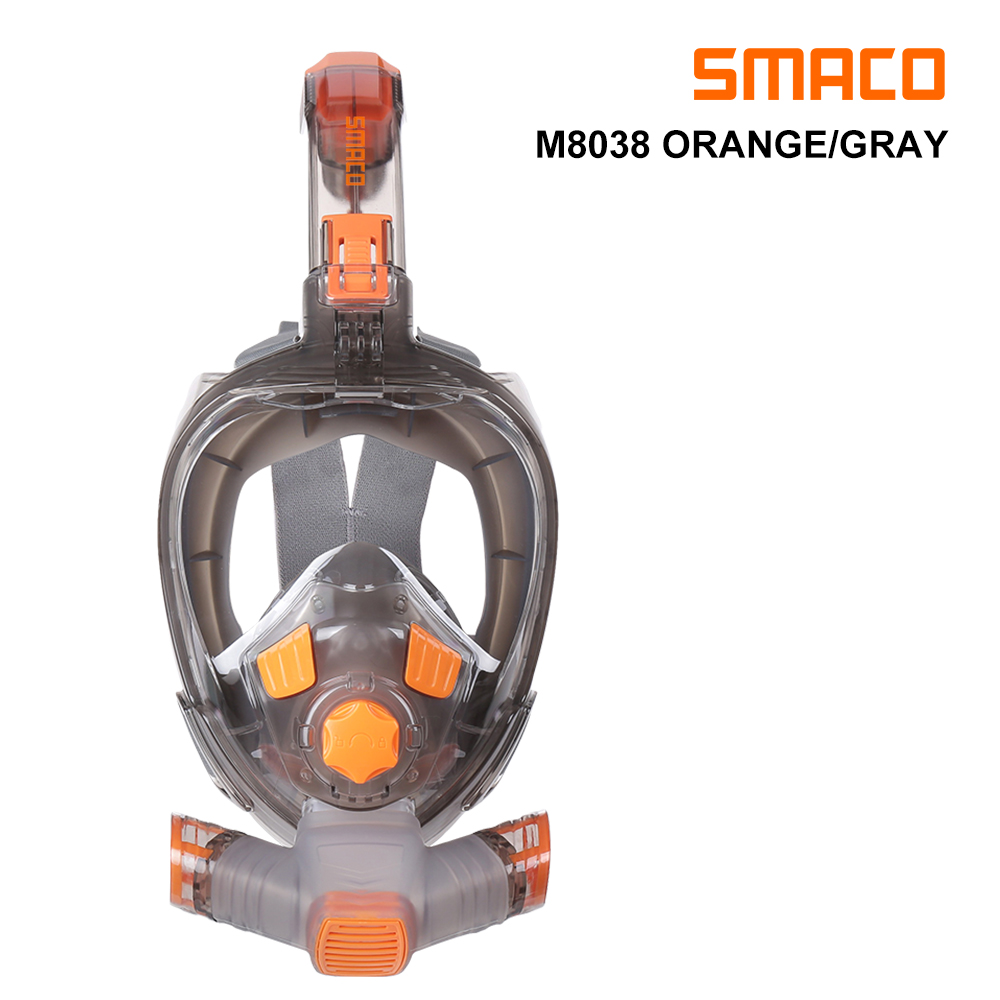 SMACO Swimming/Underwater Mask Snorkel Full Face Wide View Foldable Anti Fog Scuba Diving Mask For Swimming Adult Youth Snorkel