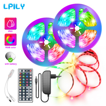 RGB LED Strip Light SMD2835 5050 5M 10M Waterproof Led Tape DC12V Ribbon diode led lights Lamp with IR Remote Controller