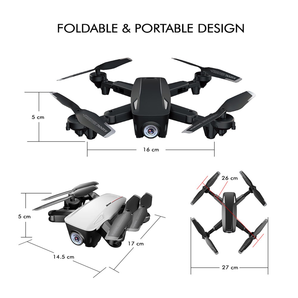 lowest price Mini Rc Drone D58 RC 4K 1080P HD Dual Camera WiFi FPV Air Pressure Altitude Hold Foldable Quadcopter Gps Dron For Boy Toys