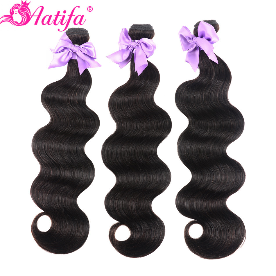 Brazilian Body Wave Bundles 100% Human Hair 1/3/4 PCS Hair Bundles Remy Hair Weave 8-28 Inch Hair Extension Natural Color Aatifa