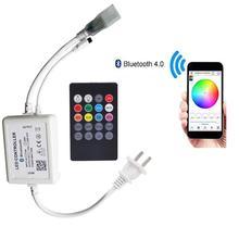Ac 220v 110v bluetooth música rgb controlador diy ios/android app 20key ir controle remoto plug ue/eua plug frete grátis