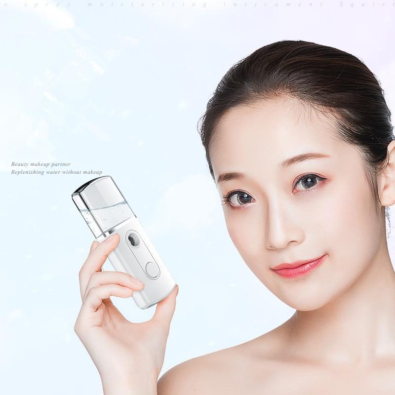 Triangle 20ml USB Portable Face Spray Bottle Nano Mister Facial Hair Steamer Ultrasonic Ozone Sprayer Hydrating Mini Humidifier