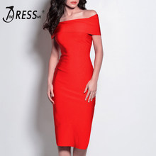 INDRESSME Off The Shoulder Dividir Bandage Vestido de Moda Para As Mulheres 2018 Vestidos de Festa(China)