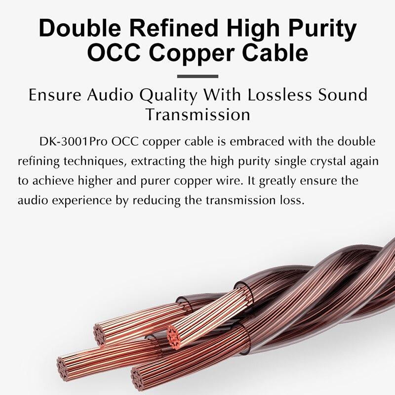 Image 4 - DUNU DK3001 PRO HiFi Audio 5 Hybrid Driver(1DD+ 4 Knowles BA) In ear Earphone MMCX Detachable cable 2.5/3.5/4.4 Balanced connectEarphones   -
