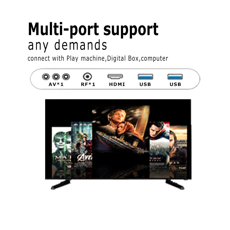 Free shipping by sea  android 8.0 LED tv televisores 32 inch led 2k smart tv with wifi