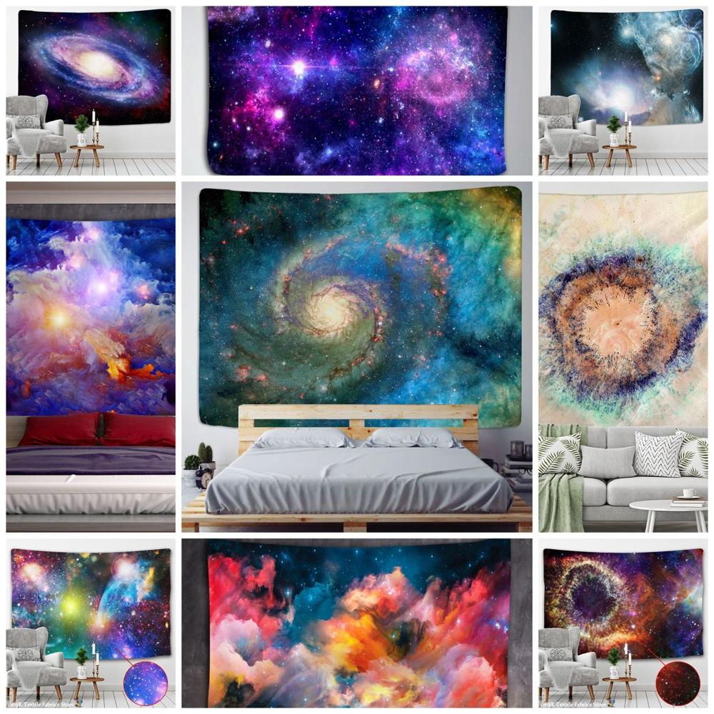 Galaxy Universe Space Tapestry Stars Wall Hanging Hippie Retro Home Decor Yoga Beach Mat Tapiz Witchcraft Wall Cloth Tapestries