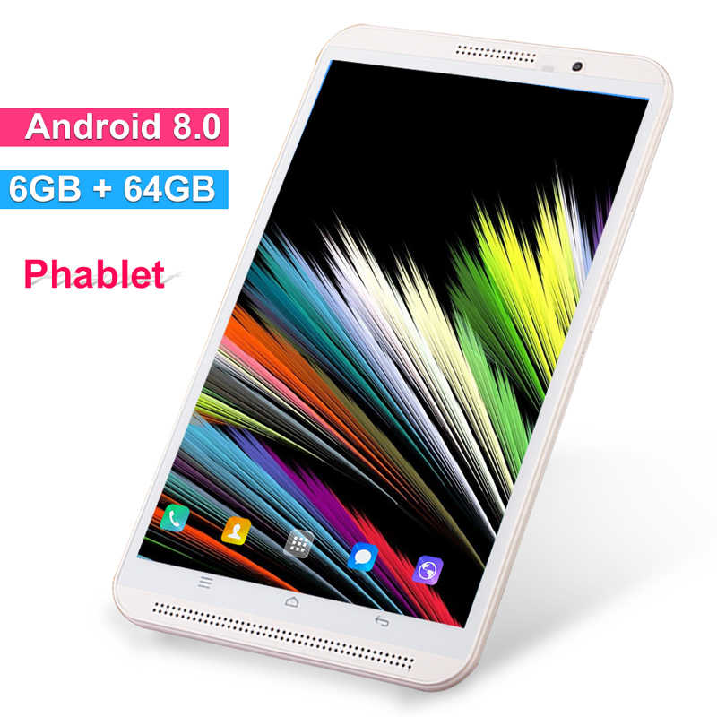 8 Inch Tablet Pc Telefoontje Mobiele Android 9.0 6 Gb Ram 64 Gb Rom Octa Core 4G Lte tabletten Dual Wifi 2.4G/5G Fm Gps Bluetooth