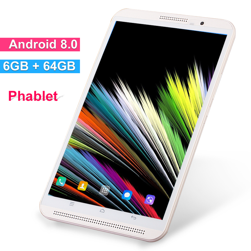 8 Inch Tablet Pc Phone Call Mobile Android 9.0 6GB RAM 64GB ROM Octa Core 4G Lte Tablets Dual WiFi 2.4G/5G FM GPS Bluetooth