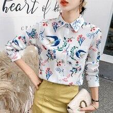 Korean Fashion Woman Blouses Shirts Women Long Sleeve Chiffon OL Shirt Plus Size Blusas Mujer De Moda