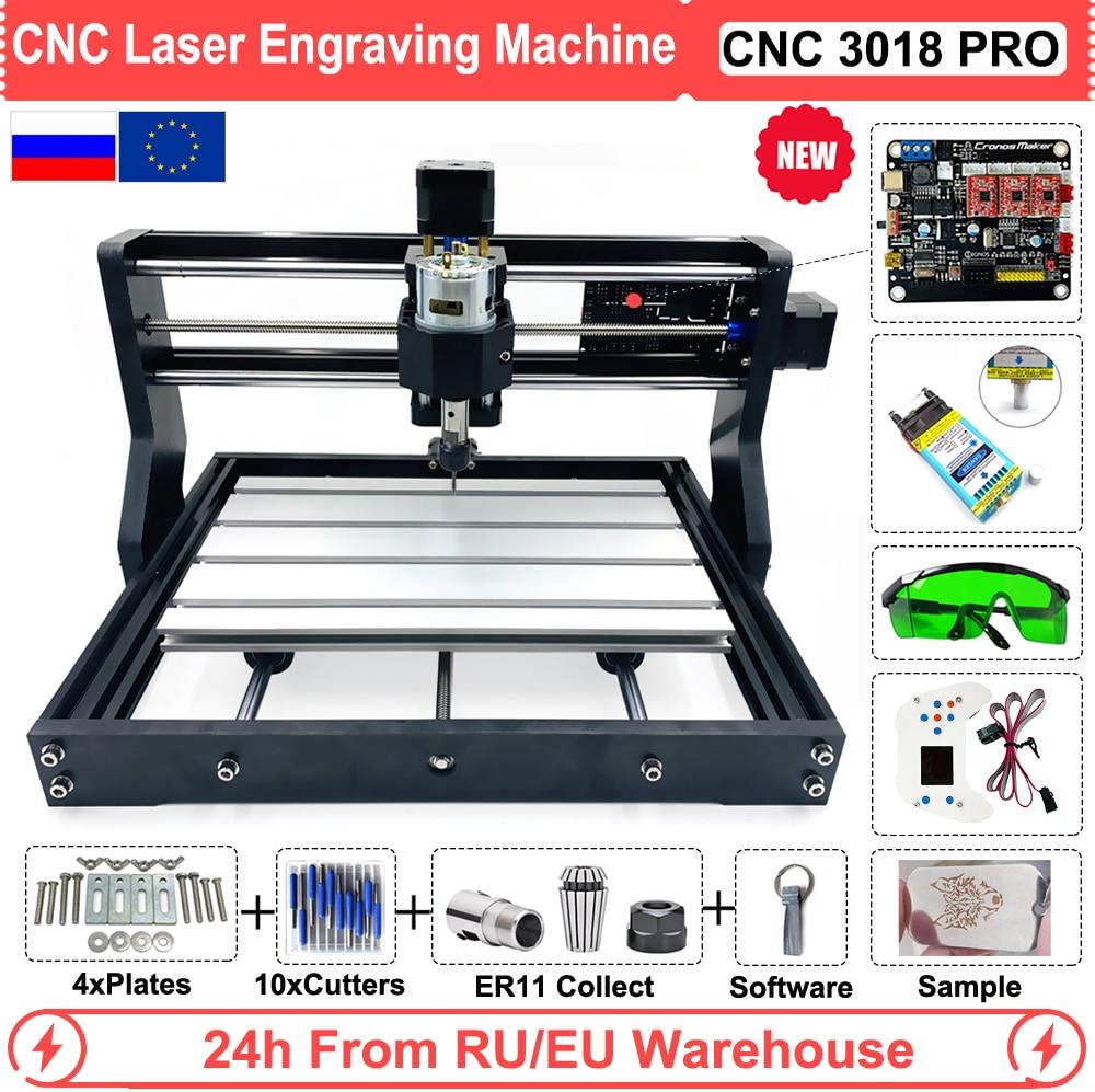 Small CNC 3018 PRO 5.5W 15W Laser Milling Machine With GRBL SOftware Can Add 500mw/2500mw/5500mw Laser