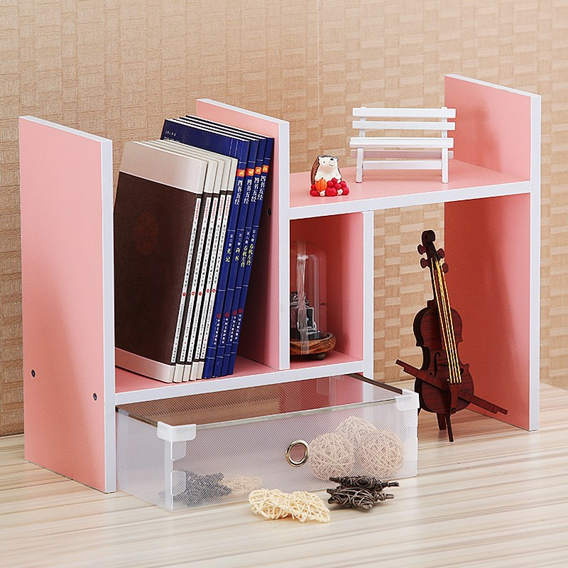 Students Bookshelf Simplicity Table Desk Storage Shelf Desktop Multilayer Combination Office Work Bookshelf Shelf Large Size