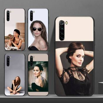 Angelina Jolie Phone Case Conque Fundas For Xiaomi Note 9 Mi 3 7 8 9se Redmi 7 7a 8 8t 10 Pro Lite Cases Cover image