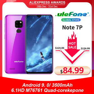 Image 1 - Ulefone Smartphone Note 7P, Android 9,0, Quad Core, 3500mAh, pantalla gota de agua de 6,1 pulgadas, 3GB + 32GB, desbloqueo facial