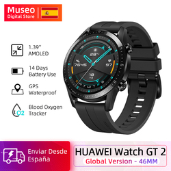 Huawei Watch GT 2 GT2 Reloj inteligente rastreador de oxígeno en sangre spo2 Bluetooth5.1 Smartwatch Llamada telefónica Rastreador de ritmo cardíaco Música